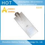 Luz de rua solar do diodo emissor de luz com fonte da lâmpada de 60W Bridgelux