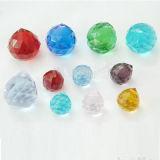 Bolas de cristal tallado de alta calidad con orificio para lámpara de araña