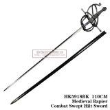 La spada Commanding spagnola Rapiercombat medioevale ha scopato la spada 110cm HK5918bk dell'elsa