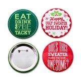 Botones al por mayor del Pin de la Navidad con la insignia de encargo para usted