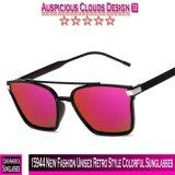15944 neue Form-Retro Unisexart-bunte Sonnenbrillen