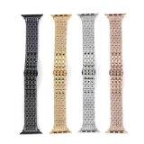 Nueva alta correa de reloj del acero inoxidable del Rhinestone para la venda de reloj de Apple