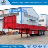 2018 La nueva fábrica de volante de Shandong en la pared lateral del eje triple remolque semi