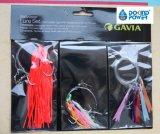 La piel de los pescados de Sabiki hostiga los aparejos de destello de Sabiki de la pluma de Chrystal de los aparejos para la venta