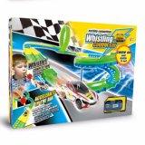 Compartimento eléctrico corrida DIY via linha de comando de voz automóvel a alta velocidade brinquedos