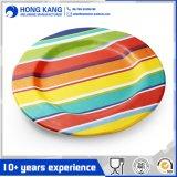 Placa redonda blanca de la melamina del uso de la cena durable de los electrodomésticos