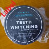 Imbiancare la piastra delle macchie di colore giallo del nero della polvere dentifricia ad alito cattivo
