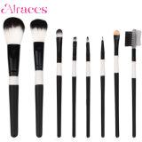 8 ПК поездки черно-белый макияж набор щеток с мешком для пыли