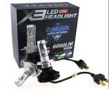 新しいFanless極度の明るいH7 H4 X3車LEDのヘッドライト