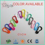 Marcador plástico do ponto do Pin do Tag da forma da pera do Pin de segurança das cores bonitas