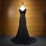 Черное сексуальное платье вечера Mermaid высокого качества Mermaid