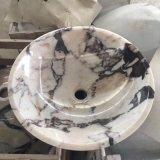 普及した自然な大理石の洗浄流しの石ボールの大理石の洗面器