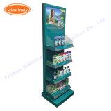 Supermarkt-Fußboden-stehende Kleinschönheits-Produkt-Bildschirmanzeige-Regal-Zahnstange
