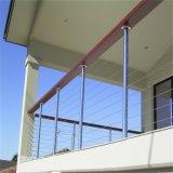 Carriles de la cerca y del cable del pasamano del alambre de la casa/de Rod de las barandillas con diseño moderno