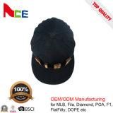 Cappello promozionale di Snapback del cotone su ordinazione all'ingrosso di Burshed con l'inarcamento del metallo