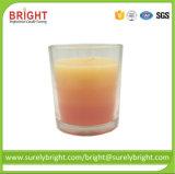 Jarra de cristal de mejor venta de velas de Citronella con capas de color (GF014)