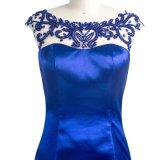 最新のデザイン女性青いカラー従来のイブニング・ドレス