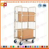 Galvanisierter faltender logistischer mobiler Speicherdraht-Rollenrahmen-Behälter (Zhra61)