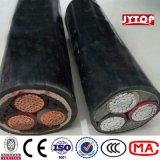 アルミニウムまたは銅のPVCによって絶縁されるPVCによっておおわれる非装甲ケーブル