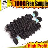 Продукты черных волос верхней ранга естественные перуанские