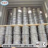 エレクトロは有刺鉄線の網の塀の鉄ワイヤーに電流を通す