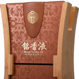 Nouveau design Cuir synthétique de l'emballage en bois solides Boîte de vin