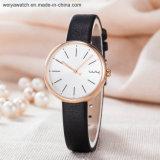 Reloj de la mujer de la correa de cuero de OEM/ODM (Wy-126D)