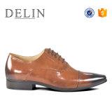 La producción profesional de negocios baratos zapatos de cuero auténtico
