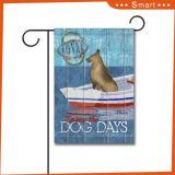 Polyester 100% kundenspezifische Hundegarten-Markierungsfahne des Polyester-300d