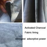 Morral de cuero libre de la PU del olor con la tela activada del carbón de leña