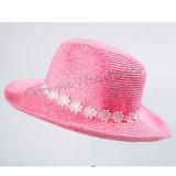 Sombrero del compartimiento de señora Summer Hat Paper Straw Panamá de Widebrim