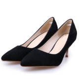 Повседневная Модная женская указал Toe высокого каблука обувь