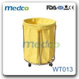 Pedal redondo de aço inoxidável hospitalar caixote do lixo,