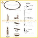 Cable de acero inoxidable Sistema de visualización