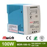 100W 12V CC Alimentation à commutation de rail DIN pour l'équipement industriel