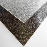 El sólido de la hoja del policarbonato grabó utilizado para el material de construcción