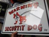 犬の警告の金属の錫の印