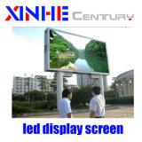 A publicidade exterior fixa tela LED RGB LED de vídeo tela na parede