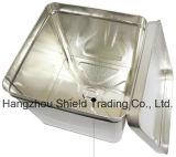 quadratischer Metallzinn-Kasten des Zinnblech-10L