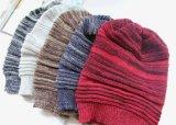 レディース秋の冬の暖かい編まれただらしない十字はキャップする帽子によって編まれるねじられたケーブルの帽子(HW109)を