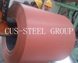 Rollo de la hoja de acero galvanizado prebarnizado/madera Color de Trama bobinas de acero/PPGI