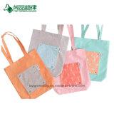 卸し売り女性カスタムFoldableプリントポリエステル肩のショッピング・バッグ