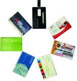 4 GB promocionais Logotipo Cores de cartão de crédito a unidade Flash USB