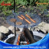 Hauteur ajustable de grilles de barbecue barbecue ronde en plein air d'outils