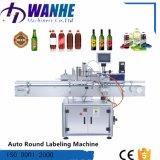 Machine à étiquettes auto-adhésive de bouteille ronde pour la boisson de jus de l'eau