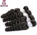7Aはペルーの自然なバージンの人間の毛髪の大きさを卸し売りする