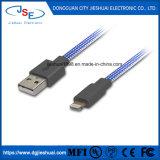 Het Laden van Mfi van de Lader van de bliksem USB Gegevens Sync Vlakke iPhone X van de Kabel F 6 6s 7 8 plus