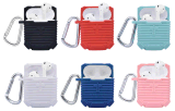 Funda de silicona caucho Anti-Lost coloridos con gancho para Apple Airpods