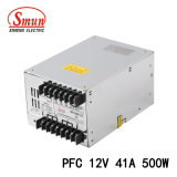 500W 12VDC 41A Pfc機能切換えの電源SMPS