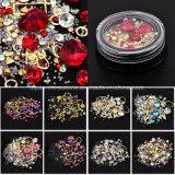 Diamond Rhinestones mistos Mini Cordões Cruz Círculo Gemstone 3D Nail Art cintilantesnovo chegar na caixa de jóias decorações de unhas de Cristal (NR-16)